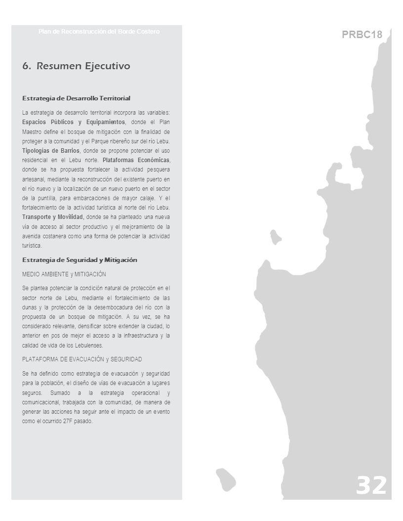 6. Resumen Ejecutivo Estrategia de Desarrollo Territorial La estrategia de desarrollo territorial incorpora las variables: Espacios Públicos y Equipam