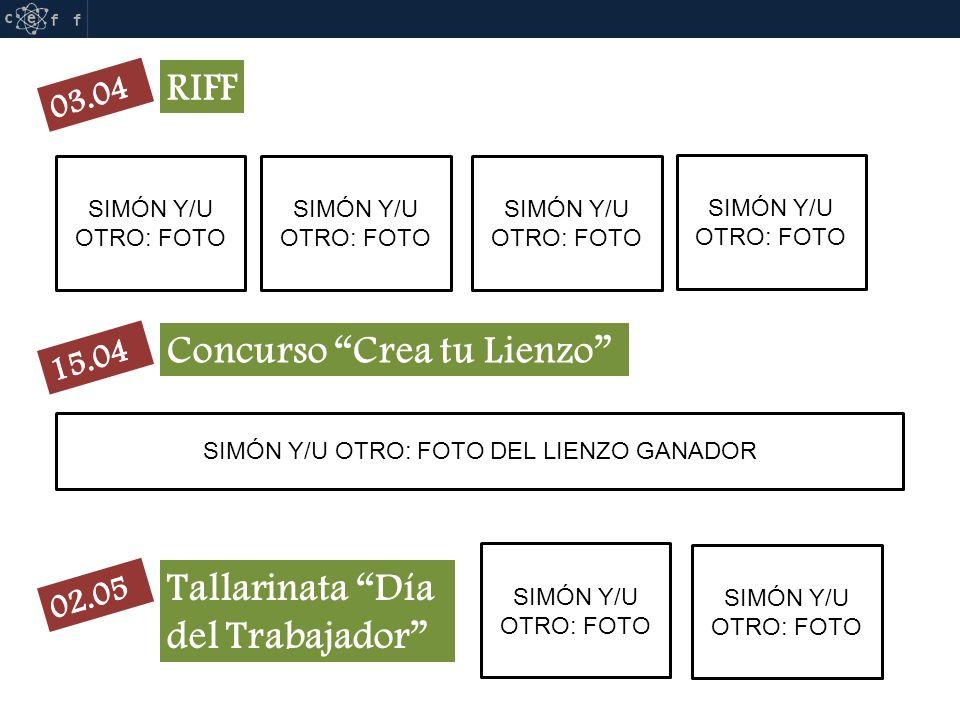 RIFF SIMÓN Y/U OTRO: FOTO Concurso Crea tu Lienzo SIMÓN Y/U OTRO: FOTO DEL LIENZO GANADOR Tallarinata Día del Trabajador SIMÓN Y/U OTRO: FOTO