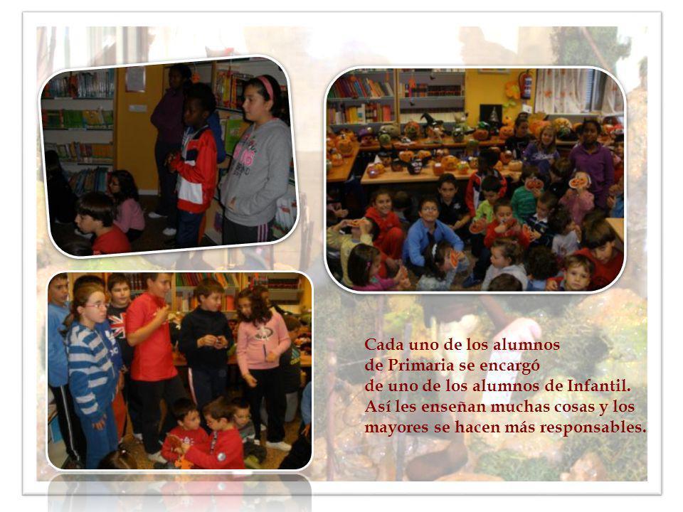 Cada uno de los alumnos de Primaria se encargó de uno de los alumnos de Infantil. Así les enseñan muchas cosas y los mayores se hacen más responsables