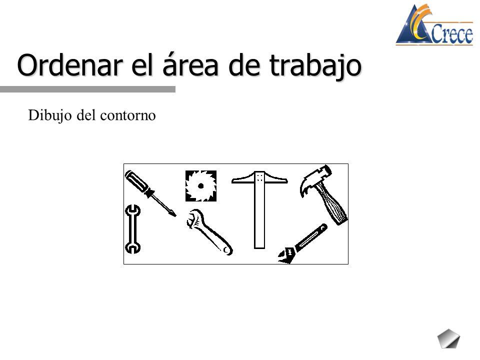 Ordenar el área de trabajo Dibujo del contorno