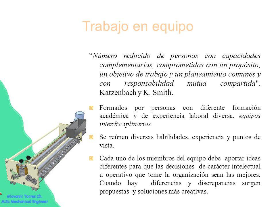 Características del trabajo en equipo Es una integración armónica de funciones y actividades desarrolladas por diferentes personas.