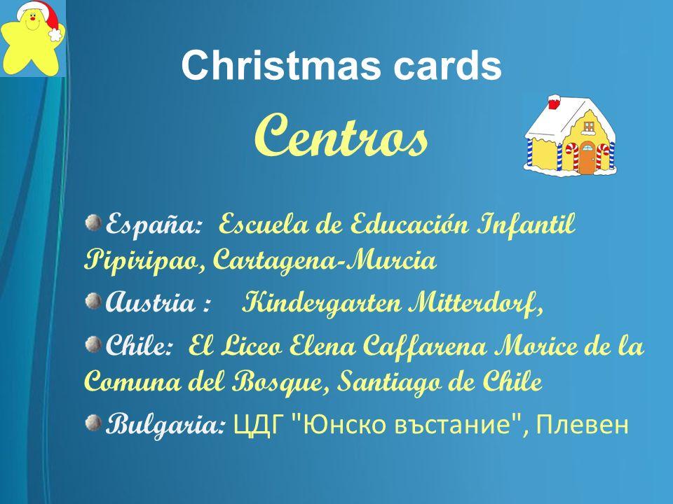 Christmas cards Participantes/ Participants María Cristina Muñoz Magdalena Pastor Noguera Renate Stoppacher-Rainer Jennifer Palacios Boriana Vachkova