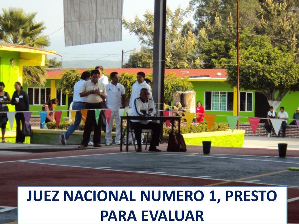 LOS JUECES NACIONALES PRINCIPALES ESTABAN LISTOS