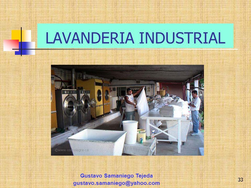 LAVANDERIA INDUSTRIAL Gustavo Samaniego Tejeda gustavo.samaniego@yahoo.com 33