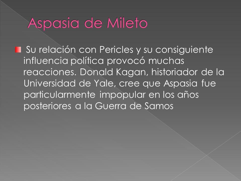 Su relación con Pericles y su consiguiente influencia política provocó muchas reacciones.