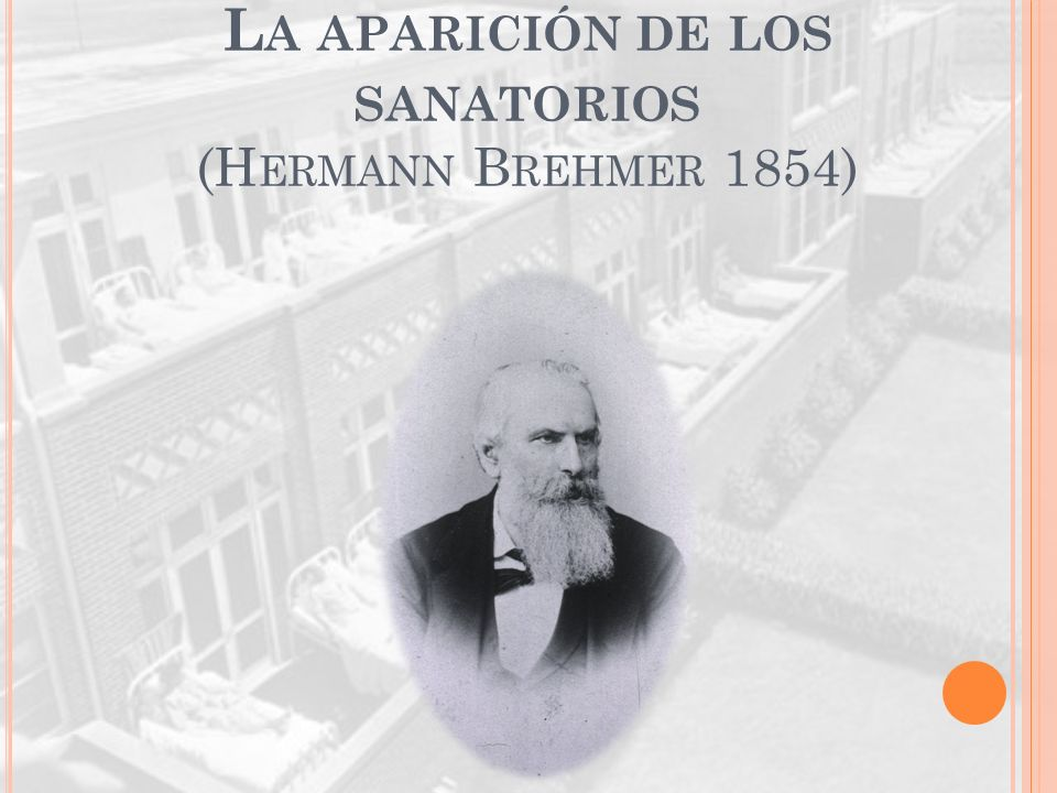 L A APARICIÓN DE LOS SANATORIOS (H ERMANN B REHMER 1854)