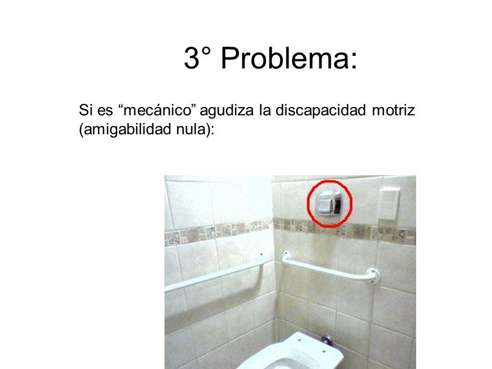 3° Problema: Si es mecánico agudiza la discapacidad motriz (amigabilidad nula):