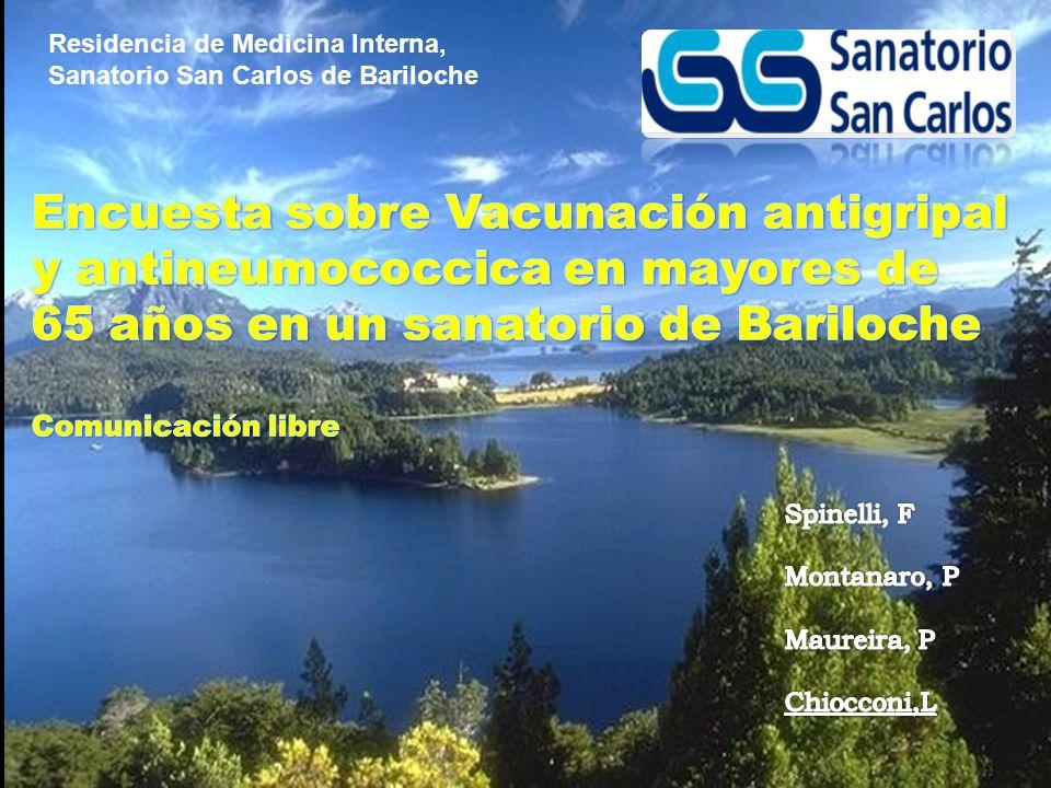 Residencia de Medicina Interna, Sanatorio San Carlos de Bariloche