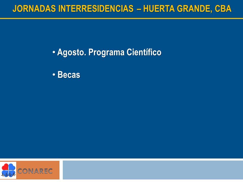 JORNADAS INTERRESIDENCIAS – HUERTA GRANDE, CBA Agosto.
