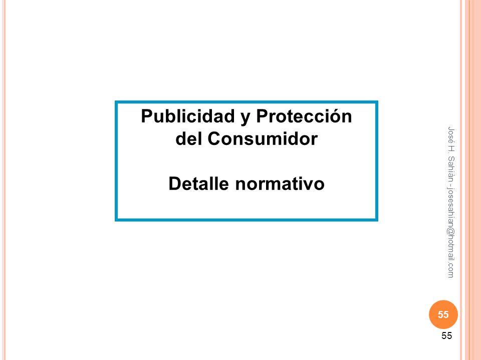 55 Publicidad y Protección del Consumidor Detalle normativo 55