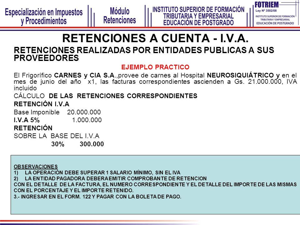 MODELO DE COMPROBANTES DE RETENCION I.V.A. RENTA