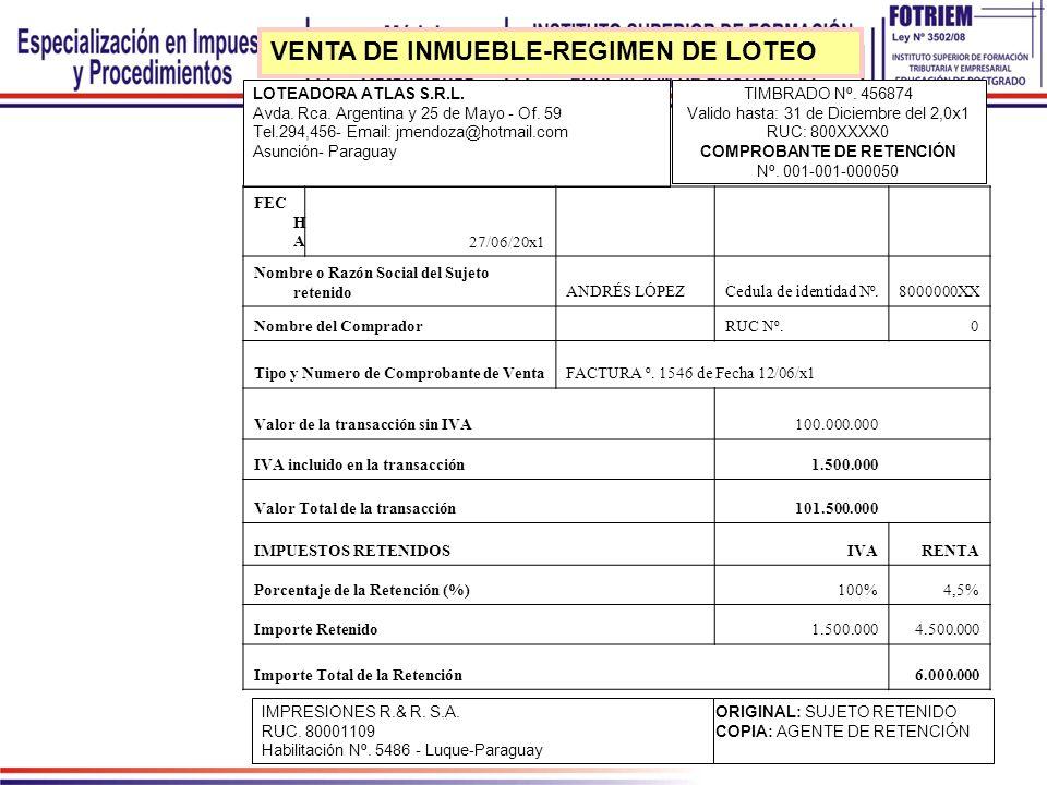 LOTEADORA ATLAS S.R.L. Avda. Rca. Argentina y 25 de Mayo - Of. 59 Tel.294,456- Email: jmendoza@hotmail.com Asunción- Paraguay TIMBRADO Nº. 456874 Vali