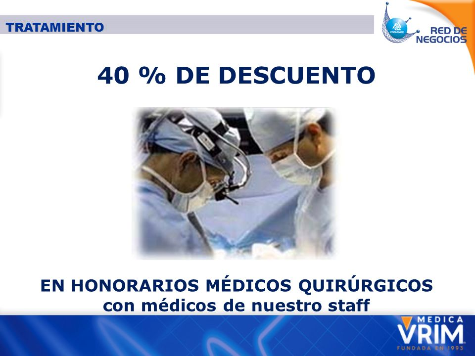 DESCUENTO EN HOSPITALIZACIÓN 10% HOSPITAL SAN AGUSTÍN 15% HOSPITAL SAN RAFAEL 20% HOSPITAL CEDROS 20% SANATORIO ADVENTISTA TRATAMIENTO