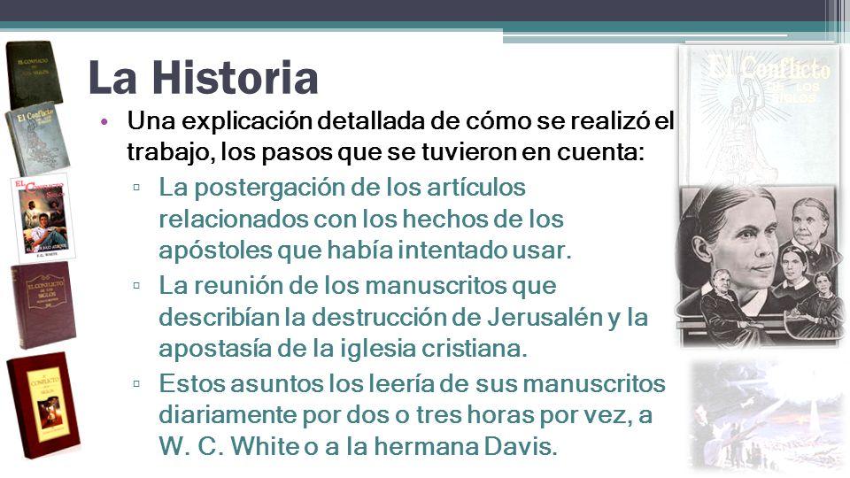 La Historia Una explicación detallada de cómo se realizó el trabajo, los pasos que se tuvieron en cuenta: La postergación de los artículos relacionado