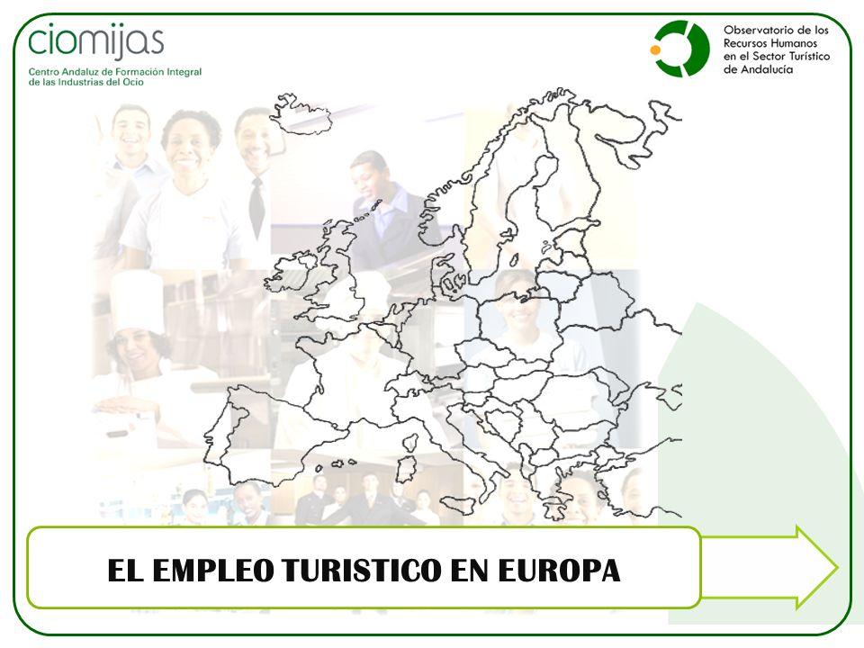 EL EMPLEO TURISTICO EN EUROPA