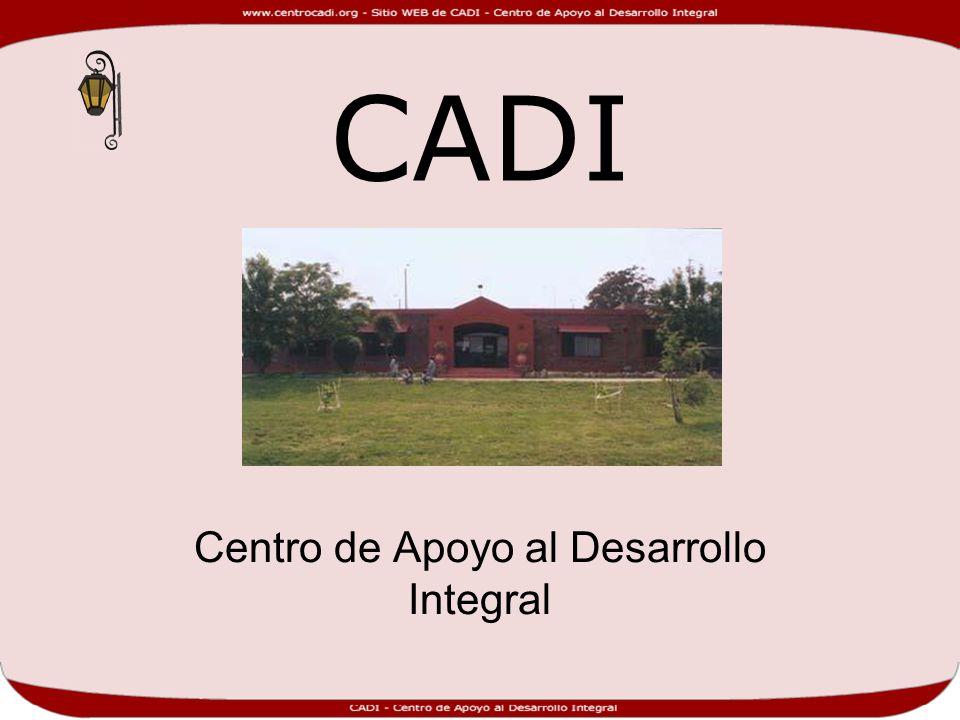 CADI Centro de Apoyo al Desarrollo Integral