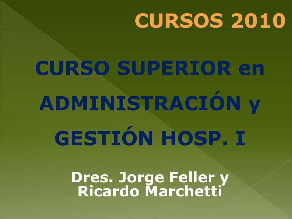 CURSO SUPERIOR en ADMINISTRACIÓN y GESTIÓN HOSP. I Dres. Jorge Feller y Ricardo Marchetti CURSOS 2010