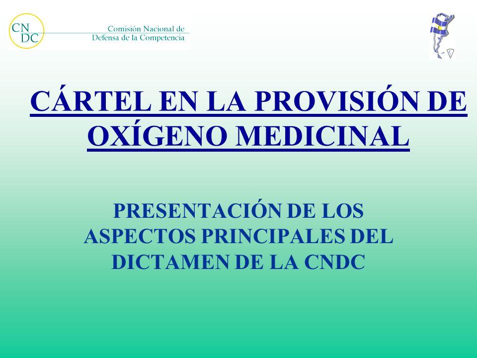 CÁRTEL EN LA PROVISIÓN DE OXÍGENO MEDICINAL PRESENTACIÓN DE LOS ASPECTOS PRINCIPALES DEL DICTAMEN DE LA CNDC