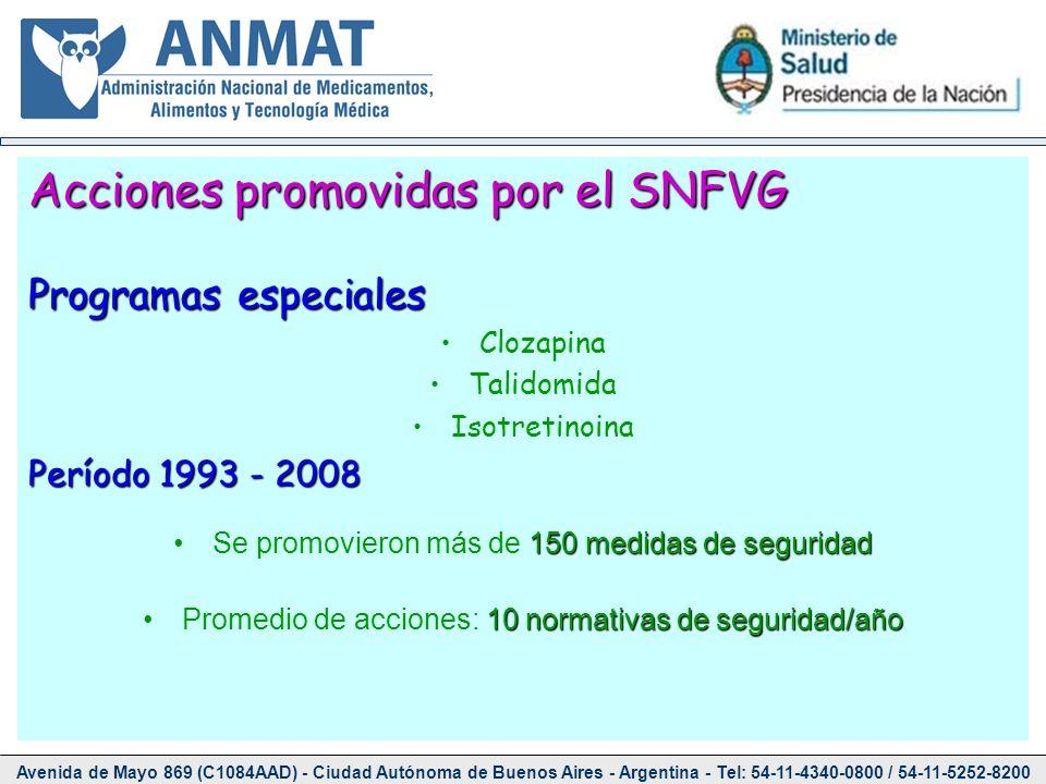 Avenida de Mayo 869 (C1084AAD) - Ciudad Autónoma de Buenos Aires - Argentina - Tel: 54-11-4340-0800 / 54-11-5252-8200 Acciones promovidas por el SNFVG