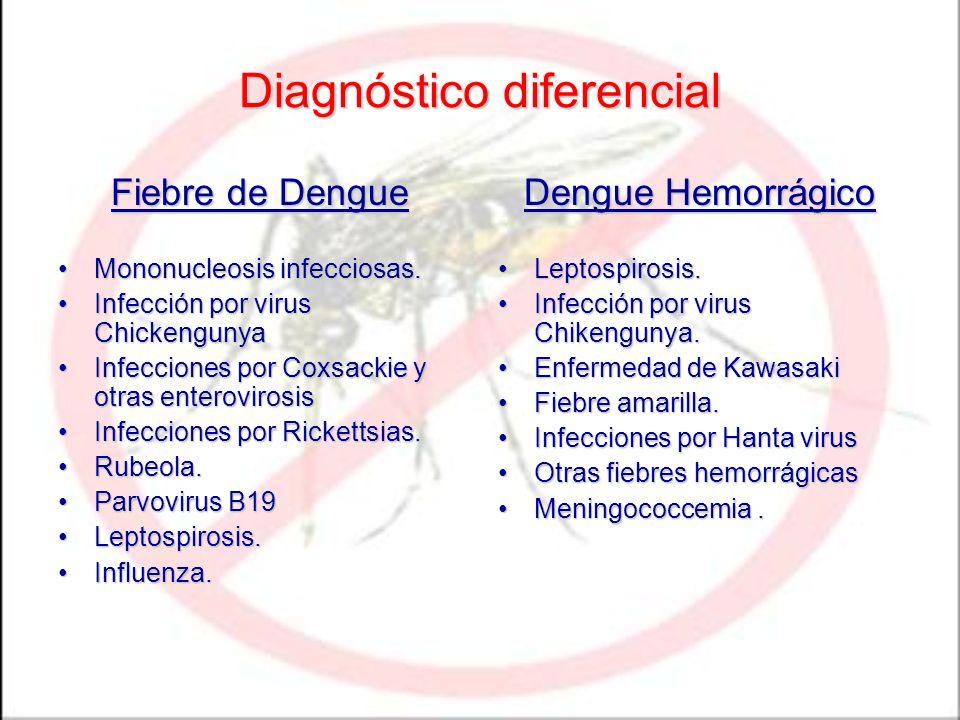 Fiebre de Dengue Mononucleosis infecciosas.Mononucleosis infecciosas. Infección por virus ChickengunyaInfección por virus Chickengunya Infecciones por