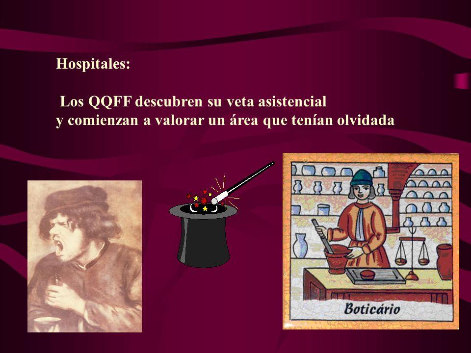Hospitales: Los QQFF descubren su veta asistencial y comienzan a valorar un área que tenían olvidada