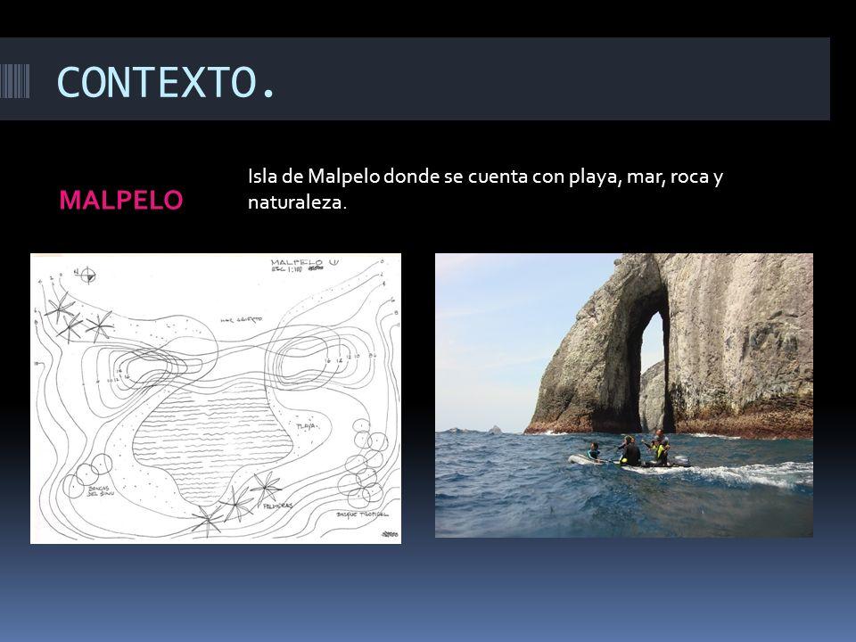 CONTEXTO. MALPELO Isla de Malpelo donde se cuenta con playa, mar, roca y naturaleza.