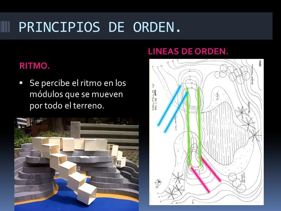 PRINCIPIOS DE ORDEN.RITMO. LINEAS DE ORDEN.