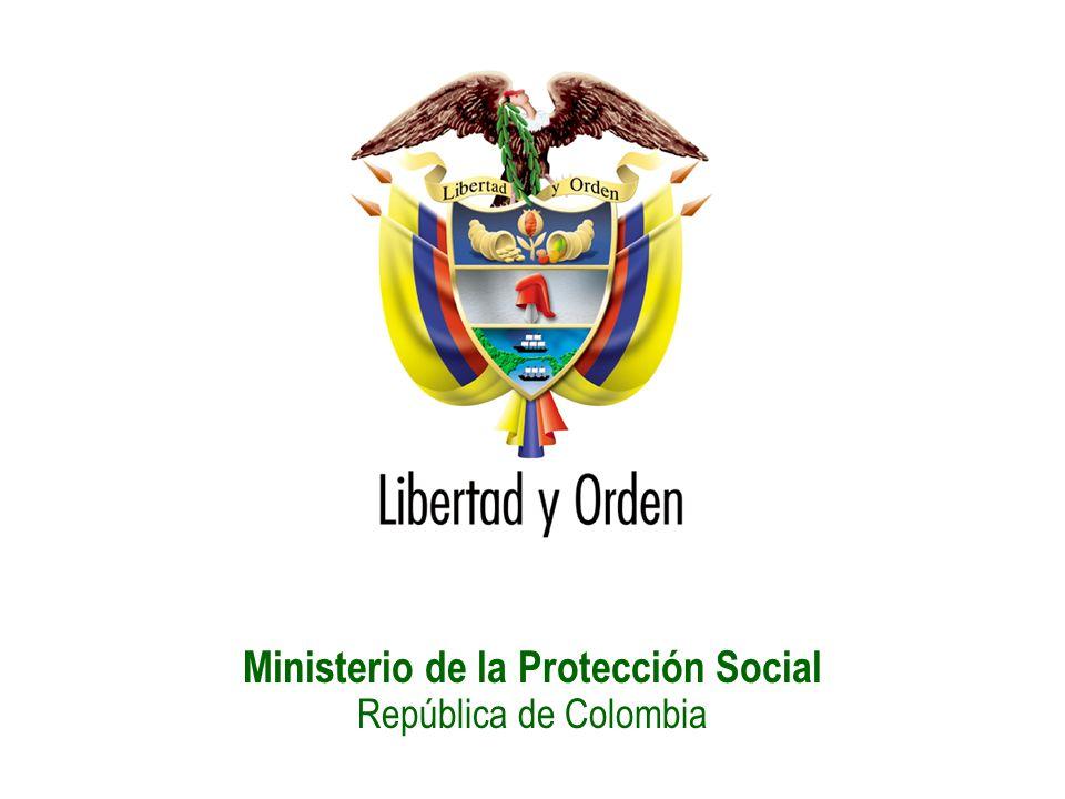 Ministerio de la Protección Social República de Colombia Permanencia en el SGSSS = Σ Δt afiliación a RC y RS Mecanismos de afiliación al SGSSS Cotización – Pago voluntario u obligatorio, con su dinero, de una cuota mensual, que depende de sus ingresos y de sus condiciones de trabajo – RC Subsidio – Pago del Estado por población en niveles 1, 2 y 3 del SISBEN (sistema para seleccionar a personas que más pudieran necesitar ayudas del Estado y su focalización) - RS