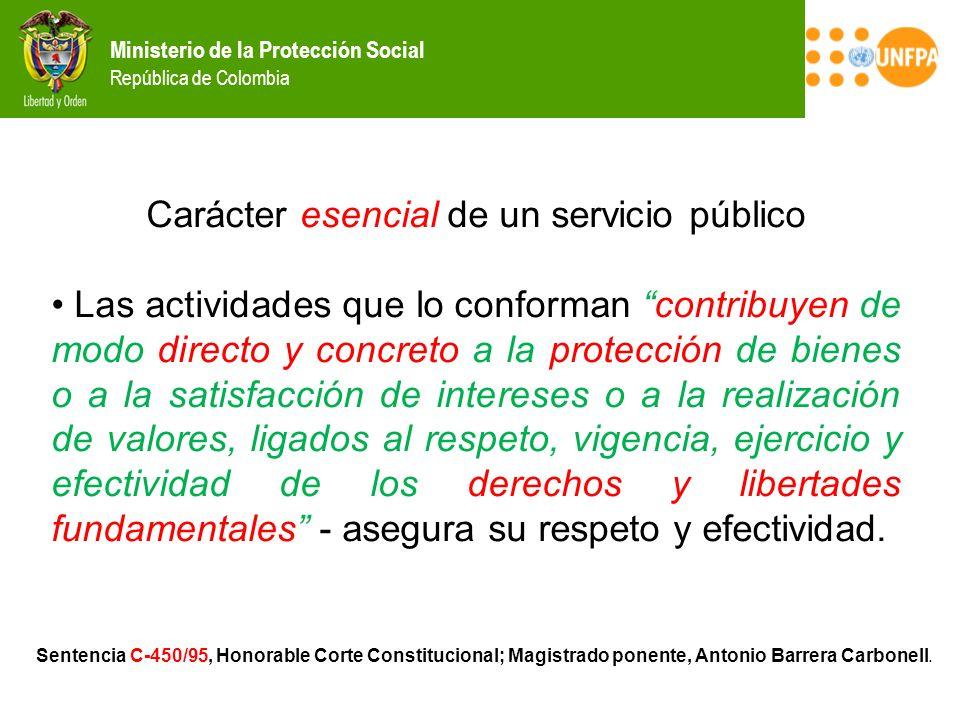 Ministerio de la Protección Social República de Colombia Sentencia C-450/95, Honorable Corte Constitucional; Magistrado ponente, Antonio Barrera Carbo