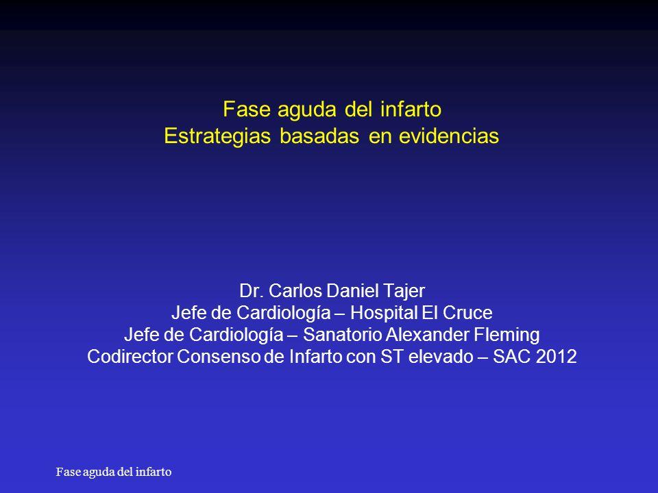 Fase aguda del infarto Fase aguda del infarto Estrategias basadas en evidencias Dr.