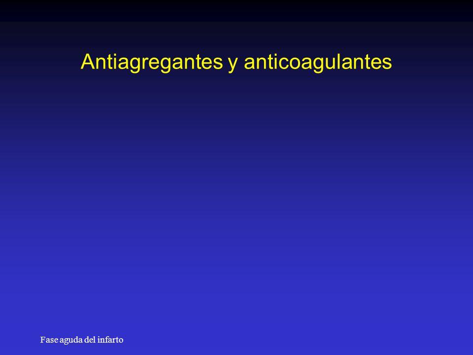 Fase aguda del infarto Antiagregantes y anticoagulantes