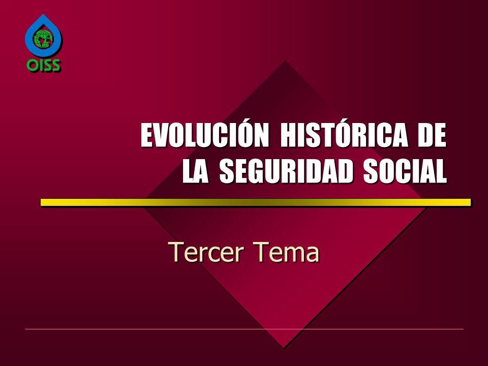 EVOLUCIÓN HISTÓRICA DE LA SEGURIDAD SOCIAL Tercer Tema