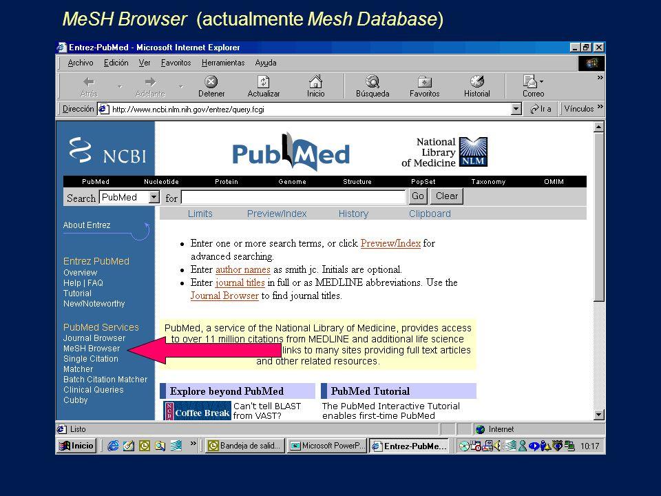 MeSH Browser (actualmente Mesh Database)