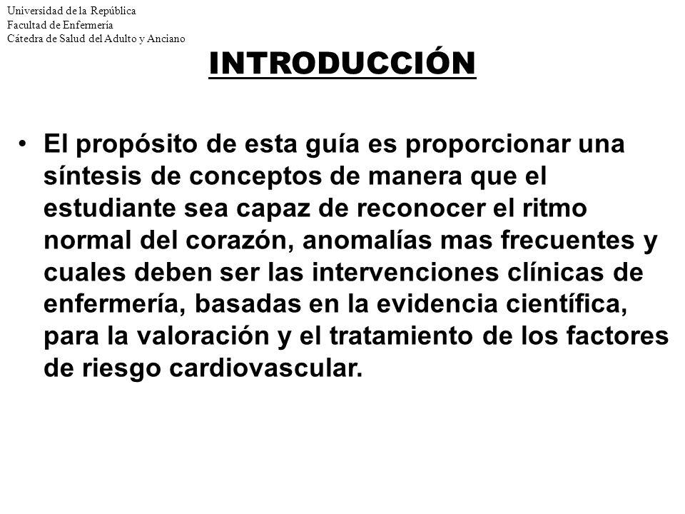 Universidad de la República Facultad de Enfermería Cátedra de Salud del Adulto y Anciano Actividad eléctrica del corazón La onda R es la primera deflexión hacia arriba del complejo QRS y es debida a la despolarización de la punta del ventrículo izquierdo.