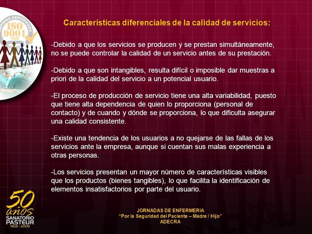 -Debido a que los servicios se producen y se prestan simultáneamente, no se puede controlar la calidad de un servicio antes de su prestación. -Debido