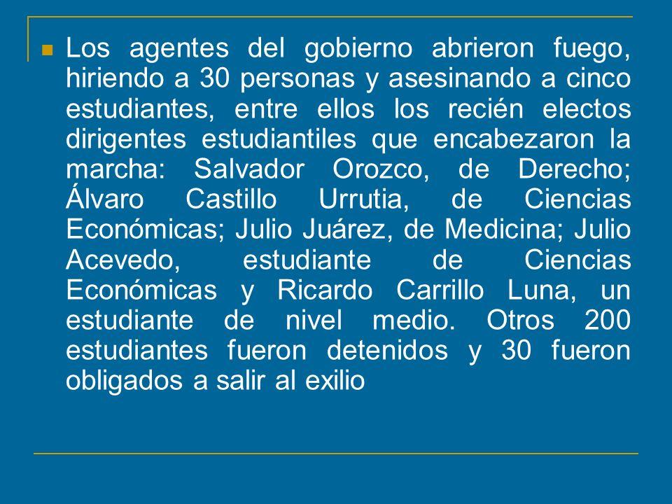 Los gobiernos militares de Fernando Romeo Lucas García y Efraín Rios Montt se realizaron programas de matanzas selectiva (en la ciudad) y colectiva (en el área rural) por medio de programas conocidos como Tierra Arrasada Frijoles y Fúsiles .
