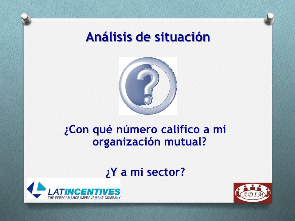 ¿Con qué número califico a mi organización mutual? ¿Y a mi sector? Análisis de situación