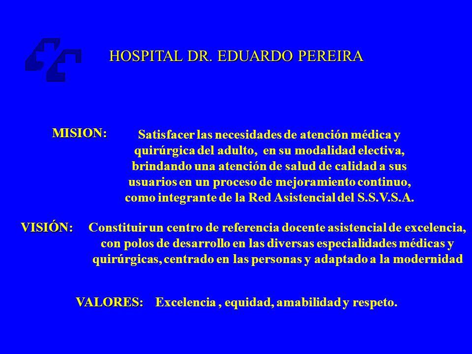 HOSPITAL DR.EDUARDO PEREIRA Constituye un lugar estratégico ante eventuales catástrofes naturales.