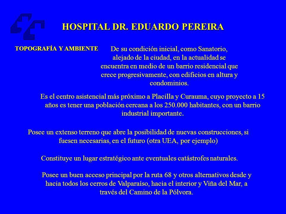 HOSPITAL DR.EDUARDO PEREIRA RED ASISTENCIAL DIRECCIÓN DEL SERVICIO- MINSAL Rol poco definido.
