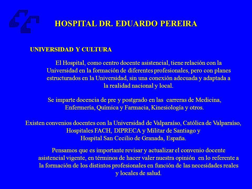HOSPITAL DR.EDUARDO PEREIRA Atención médica unificada.