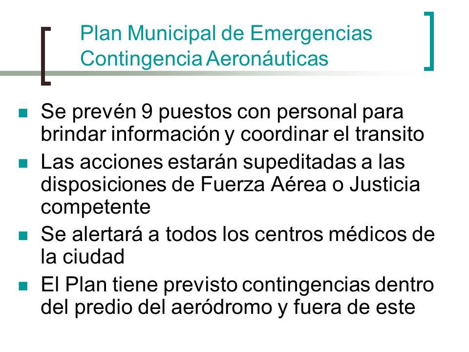 Se prevén 9 puestos con personal para brindar información y coordinar el transito Las acciones estarán supeditadas a las disposiciones de Fuerza Aérea