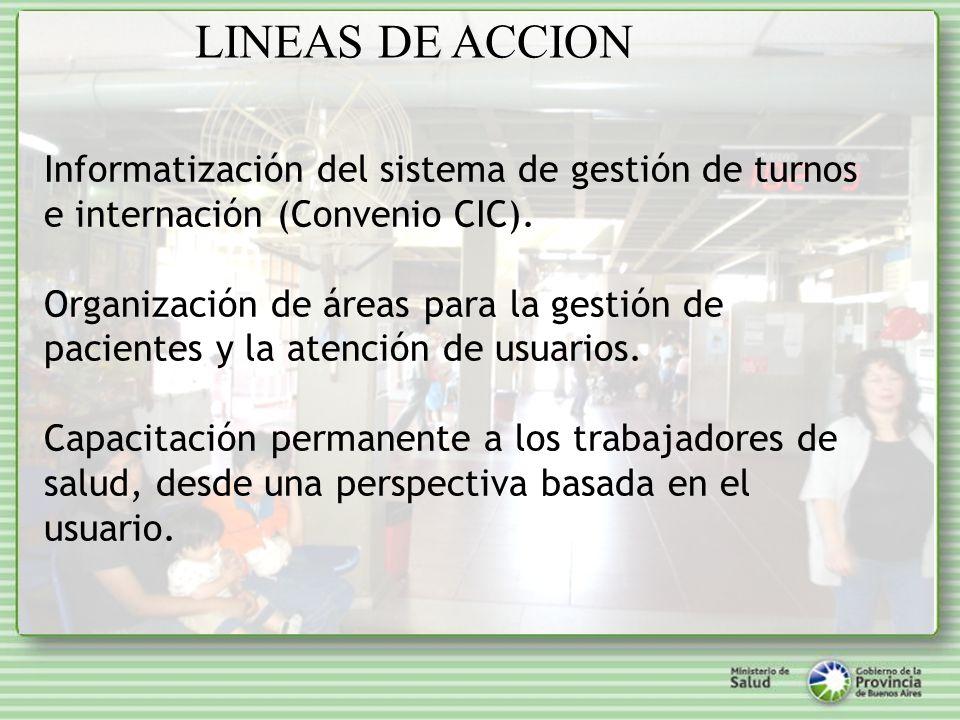 Informatización del sistema de gestión de turnos e internación (Convenio CIC).