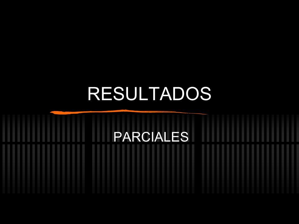 RESULTADOS PARCIALES