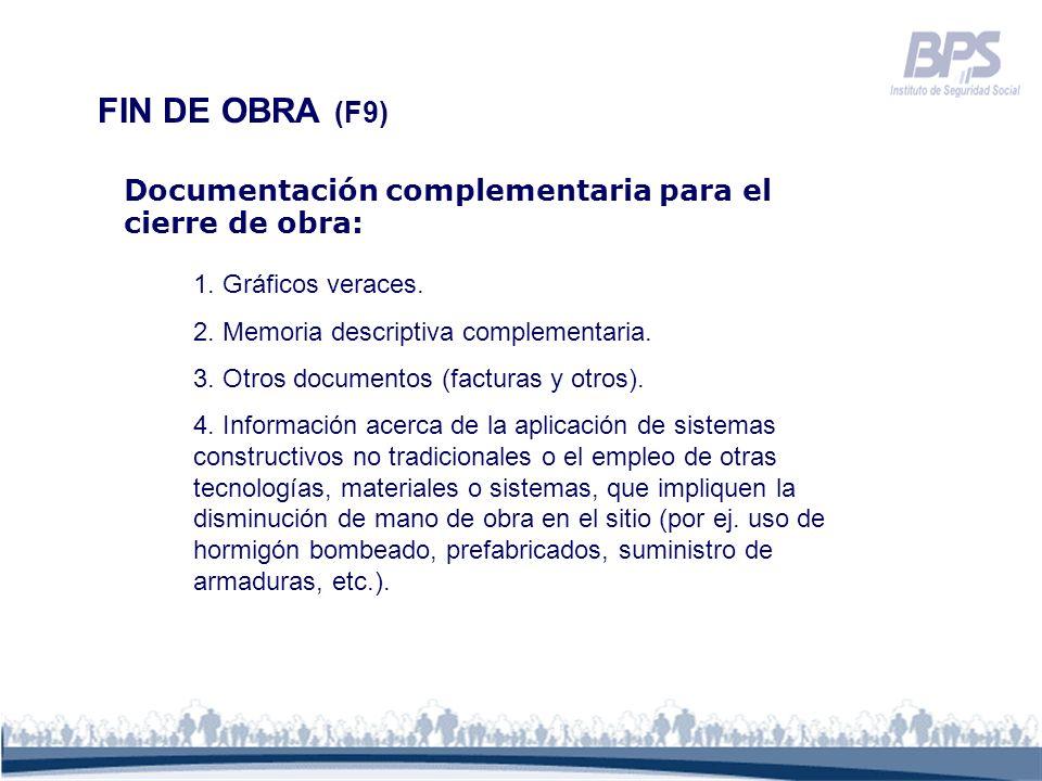 1. Gráficos veraces. 2. Memoria descriptiva complementaria. 3. Otros documentos (facturas y otros). 4. Información acerca de la aplicación de sistemas