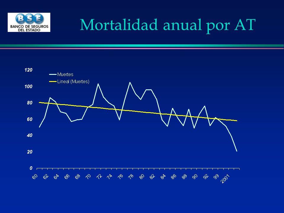 Mortalidad anual por AT