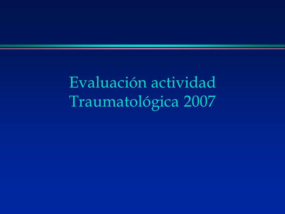 Evaluación actividad Traumatológica 2007