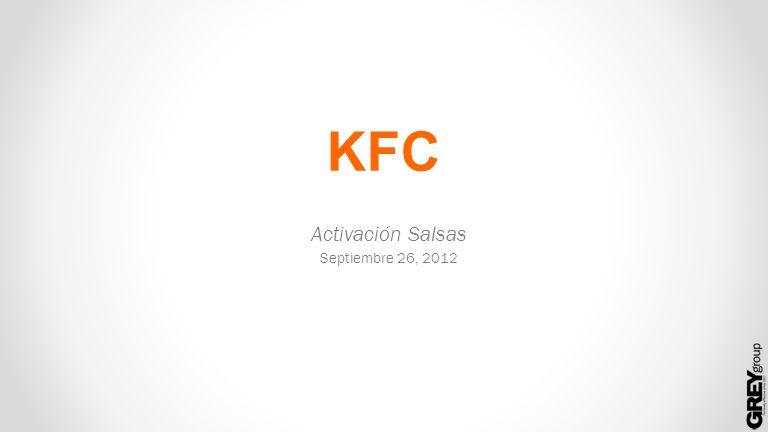 KFC Activación Salsas Septiembre 26, 2012
