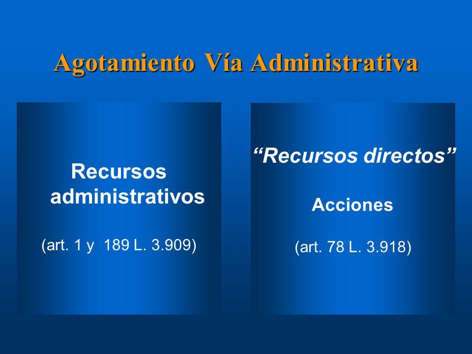 Agotamiento Vía Administrativa Recursos administrativos (art. 1 y 189 L. 3.909) Instrucciones: Reemplazar iconos de ejemplo por iconos de documentos a
