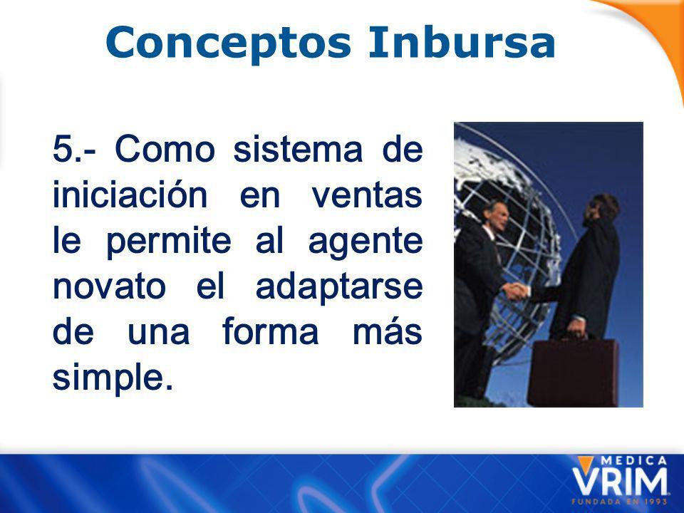 Conceptos Inbursa 4.- Como sistema de prospectación es excelente, ya que permite un acercamiento rápido y eficaz.