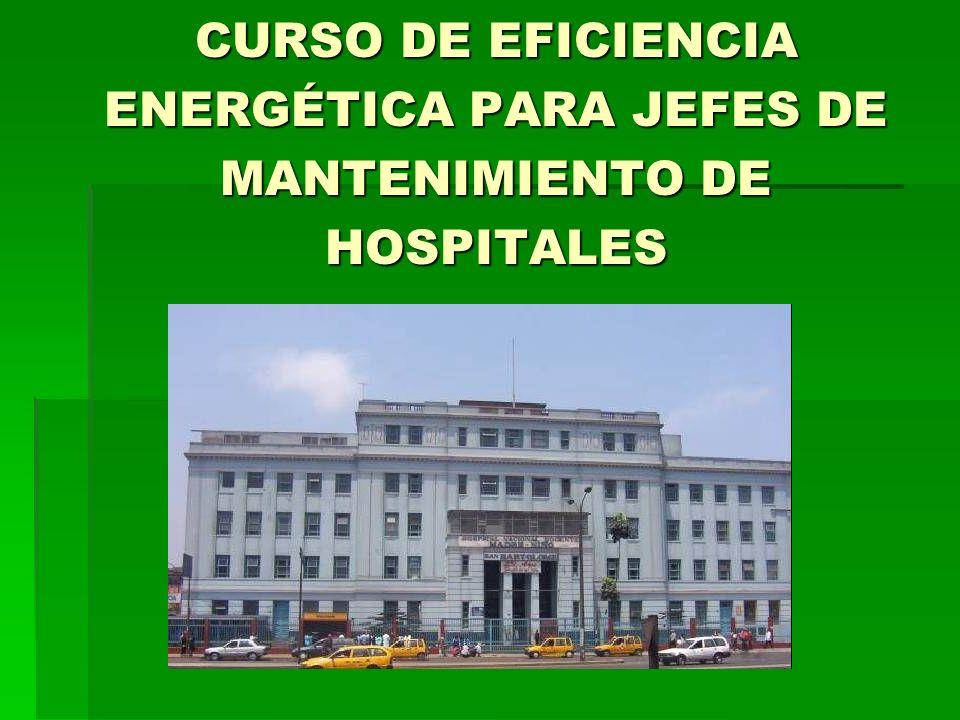 CURSO DE EFICIENCIA ENERGÉTICA PARA JEFES DE MANTENIMIENTO DE HOSPITALES